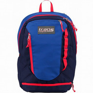"Trans By Jansport Capacitor 18"" Backpack Blue & Red with Laptop Sleeve"