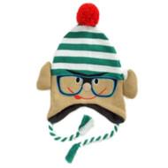 Aquarius Boys Christmas Elf Peruvian Style Critter Hat Fur Fleece Lined Trapper
