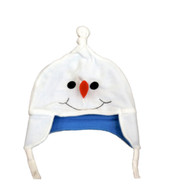 CP Infant Boys & Girls White Fleece Snowman Peruvian Trapper Hat 6-12 Months