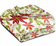 Better Homes & Gardens Velvet Plush Microfleece Classic Poinsettia Throw Blanket