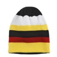 Aquarius Boys Colorful Knit Stripes Beanie Yellow Red Stripe Stocking Cap Hat