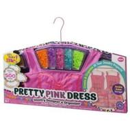 Pretty Pink Dress Jewelry Designer & Organizer Bead Craft Set 500 Beads