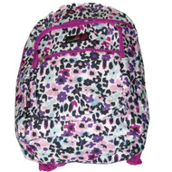 "Angels Floral 17"" Backpack, School Travel Bag With Pink Flowers"