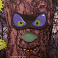 PMG Evil Eyes Tree Faces Spooky Light Up LED Halloween Tree Face Purple Eye
