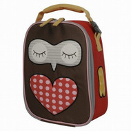 Brown & Red Hoot Owl Lunch Box Insulated Lunch Bag Lunchbox