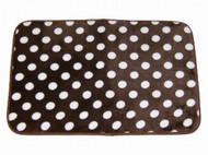 At Home Luxurious Brown Polka Dot Memory Foam Rug Bath Mat Skid Resistant 17x24