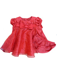 Ashley Ann Infant Girls Red Sequin Organza Party & Holiday Dress