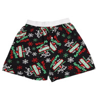 Mossimo Men Black Fire Boxers with Red Flame Halloween Boxer Shorts with Cape