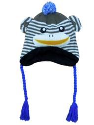 Aquarius Boys Brown Monkey Critter Style Peruvian Hat