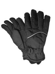 Aquarius Boys Black Snow & Ski Gloves Thinsulate Insulated Wrist Strap