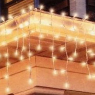 300 Mini Icicle Lights with White Wire Christmas Patio & Garden String Light Set