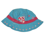 ABG Infant Girls Blue Ladybug Sun Hat  Floppy  Bucket Cap