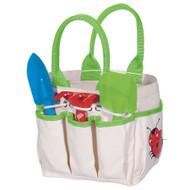 Toysmith Kid's Gardening Tote with Trowel Rake and Shovel Garden Tote Set