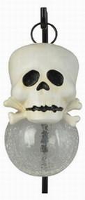 Moonrays 96968 Skull Pendant Solar Holiday Path Light White LED Garden Lamp