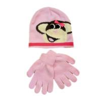 ABG Accessories Girls Pink Monkey Hat & Gloves Beanie Stocking Cap
