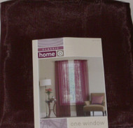 "Classic Home Sheer Burgundy Window Panel 84"" Curtain"