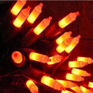 70 Orange & Black Lights Halloween String Light Set