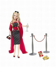 Mattel Barbie Hilary Duff Doll Red Carpet Glam Dressed Up, Played Lizzie McGuire