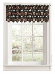 Color Drift Buffalo Roam Brown Tribal Window Valance Curtain Topper