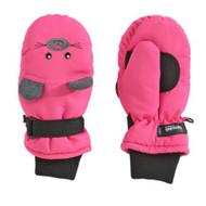 Aquarius Girls Pink Mouse Snow & Ski Mittens Fleece & Thinsulate Lining