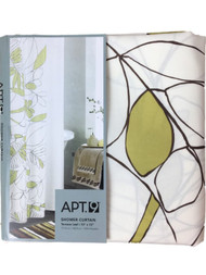 Apt 9 Green Terrace Leaf Fabric Shower Curtain Pretty Leaves Bath