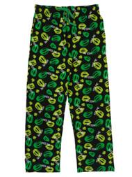 Bioworld Mens Black Saint Patrick's Day Sleep Pants Kiss Me Pajama Bottoms