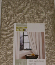 "Global Home Khaki Green Fleck Window Panel 84"" Curtain"