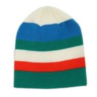 Aquarius Boys Colorful Knit Stripes Beanie Blue Green Stripe Stocking Cap Hat