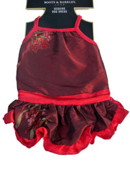 Boots & Barkley Red Sequin Dog Dress Holiday Pet Gown