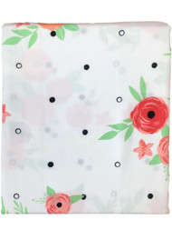 Celebrate Pink Coral Floral Fabric Shower Curtain Flower Bath Decor