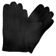 American Living Mens Black Suede Gloves with Sleek Design & Acylic Lining