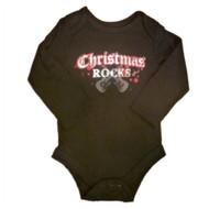 Baby Glam Infant Boys & Girls Bling Creeper Christmas Rocks Bodysuit Black Shirt