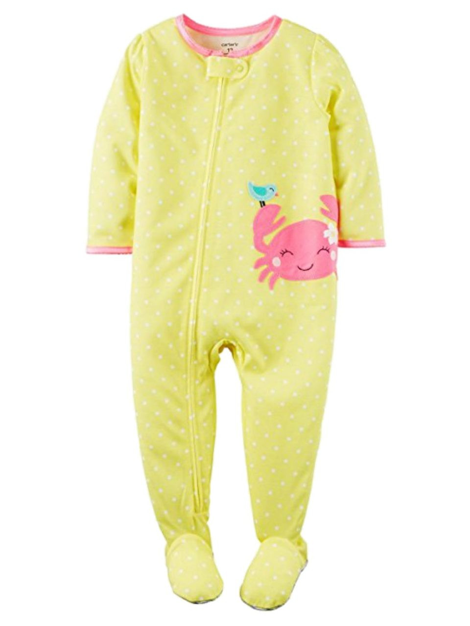 Carters Toddler Girls Lightweight Snowman Sleeper Footie Pajama Sleep /& Play