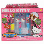Hello Kitty Personalized Ear Buds Craft Kit with Beads & Gem Stones