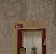 Home Imogen Tan Lace Ascot Window Valance Curtain Topper