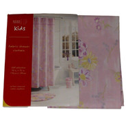 Home Trends Pretty Pink Floral Fabric Shower Curtain Delicate Flowers