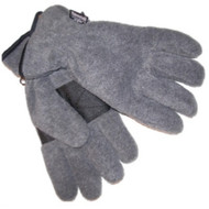 Athletic Works Mens Gray Fleece Snow Gloves OSFM