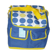 Blue Yellow Polka Dot Insulated Cooler 30 Can Capacity