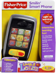Fisher Price Laugh & Learn Smilin Smart Phone Preschool Telephone Songs Sounds