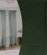 "Home  Sheer Green Tailored Window Panel 84"" Curtain"