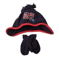 Carters Toddler Boys Blue Fleece Hat Mittens Set 28 2-4T
