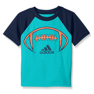 Adidas Little Boys Blue Football Climalite Athletic T-Shirt