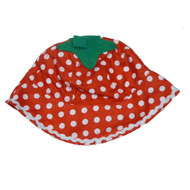 ABG Infant Girls Red Polka Dot Sun Hat  Floppy Strawberry Bucket Cap