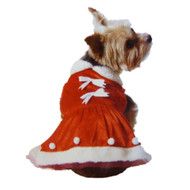 Holiday Time Dog Mrs Santa Suit Christmas Pet Mrs Santa Claus Dress
