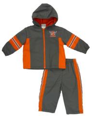 Al & Ray Infant & Toddler Boys Gray & Orange Jacket & Pants Track Suit Set
