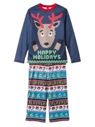 Happy Holidays Infant & Toddler Boys Reindeer Pajamas Christmas Sleep Set