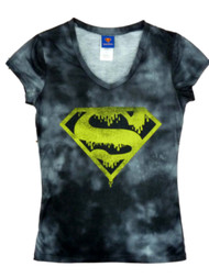 DC Comics Junior Women Black Supergirl T-Shirt Halloween Tee Shirt