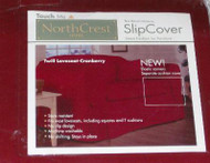 Cranberry Red Twill Loveseat Slipcover, Slip Cover