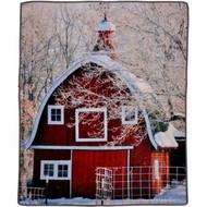 "Barn Photo Real Throw Blanket Premium Quality Life Like - 50"" x 60"""
