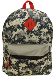 Accessories 22 Gray Geometric Camo Backpack School Travel Camouflage Back Pack